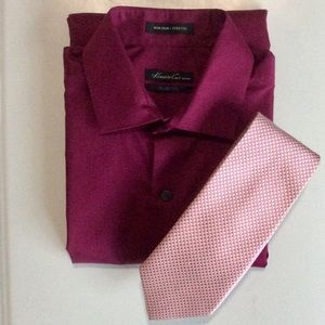⭐️🆕⭐️Kenneth Cole Slim-fit Shirt & Tie Combo
